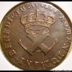 Louis XV - 9 Deniers 1722/21 H - Colonie...