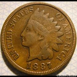 1887 One Cent (ex.2)