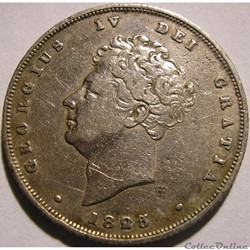 George IV - 1 Shilling 1825/3 - Great Britain