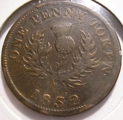 George IV - One Penny Token 1832 - Nova ...