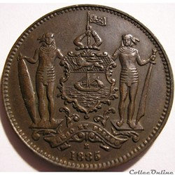 British North Borneo Co - One Cent 1885 H - Borneo