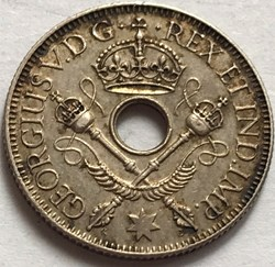 George V - One Shilling 1936 - New Guine...