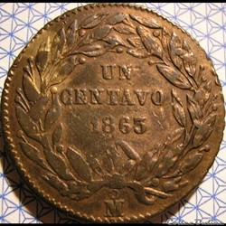 México - 1 Centavo 1863 - 2nd Republic