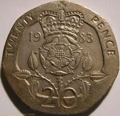 Elizabeth II - 20 Pence 1983 - UK