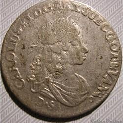 monnaie monde suede sweden karl xi 1 3 thaler 1674 pomerania swedish dominion