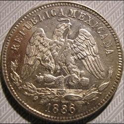 México - 25 Centavos 1886/5 Mo - 2nd Rep...