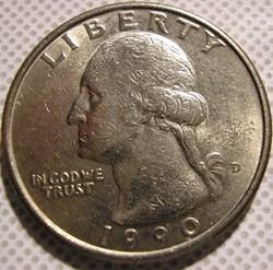1990 D Quarter Dollar