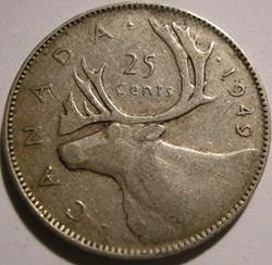 George VI - 25 Cents 1949