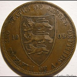 Edward VII - 1/12 Shilling 1909 - Jersey...