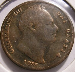 William IV - One Farthing 1835 Kingdom o...