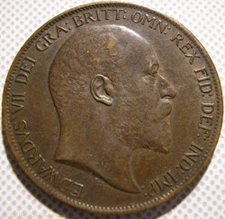 Edward VII - One Penny 1902 - Great Brit...