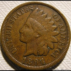 1894 One Cent (ex.2)