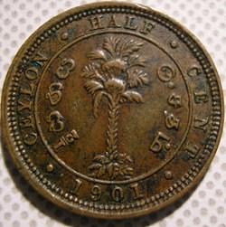 Victoria - Half Cent 1901 - Ceylon