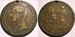 Queen Victoria - Crowning Token 1838 - G...