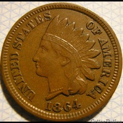 1864 One Cent (ex.2)