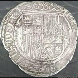 ca. 1506-1566 Sevilla 1 Real - Isabel de Castilla & Fernando de Arago
