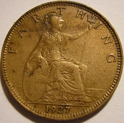 George V - Farthing 1927 - Great Britain