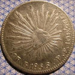 México - 2 Reales 1856 Go - Ist Republic