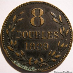 States of Guernsey - 8 Doubles 1889