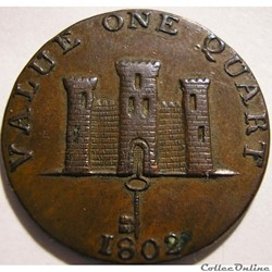 Gibraltar - One Quart 1802 - Robert Keel...