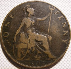 Edward VII - One Penny 1904 - Great Brit...