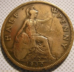 George V - Half Penny 1930 - Great Brita...