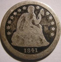 1841 o Dime / 10 Cents