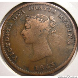 Victoria - Half Penny 1843 - New Brunswick