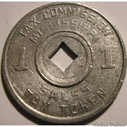 Sales Tax Token - 1 Mill (1936-1941) Mis...