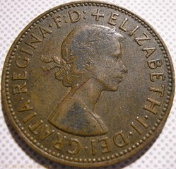 Elizabeth II - One Penny 1963 - UK
