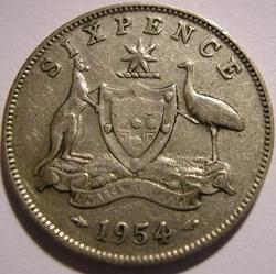 Elizabeth II - 6 Pence 1954 - Australia