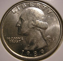 1989 D Quarter Dollar (2ex.)