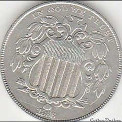 1868 5 Cents
