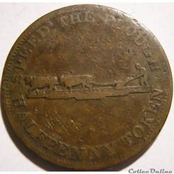Upper Canada 1830' - HalfPenny Token - Perrins Bros