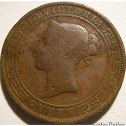 Victoria - Five Cents 1890 - Ceylon