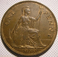 George VI - One Penny 1939 - UK