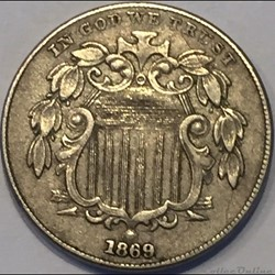 1869 5 Cents