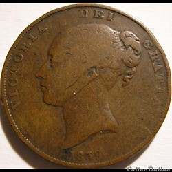 Victoria - 1 Penny 1839 Isle of Man