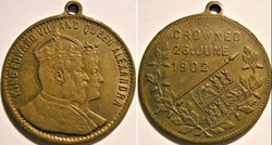 Edward VII & Alexandra - Gilt Medalet Co...