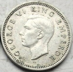 George VI - 3 Pence 1939 - New Zealand