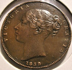 Victoria - One Farthing 1839 - Kingdom o...