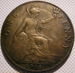 George V - One Penny 1918 - Great Britai...