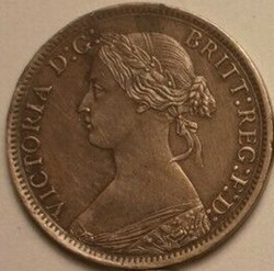Victoria - One Farthing 1867 - Kingdom o...