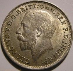 George V - 3 Pence 1919 - United Kingdom...