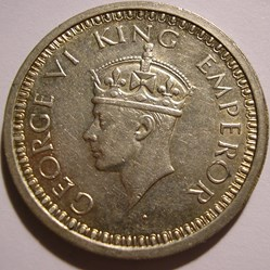 George VI - One Rupee 1945 Bombay - Brit...