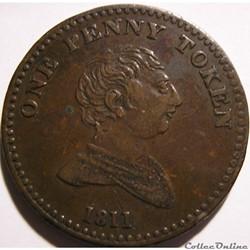 1811 One Penny Token, George III - Bilst...