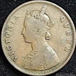 Victoria - Half Anna 1862 - British Indi...