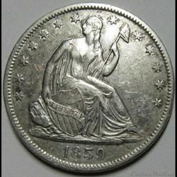 monnaie monde etat uni 1859 o half dollar