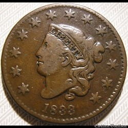 1833 One Cent