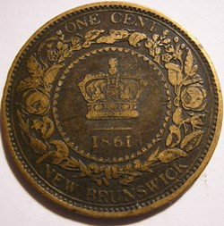 Victoria - One Cent 1861 - New Brunswick